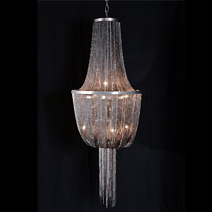 Pearl black  chain pendant lamp D760-L27
