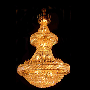 two layer crystal project pendant lamp
