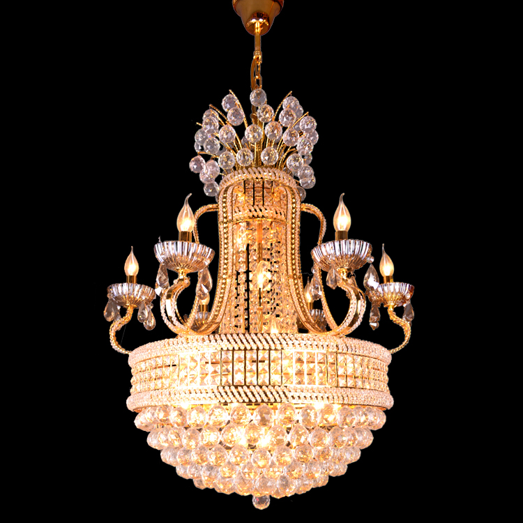 luxury hotel project crystal pendant lamp