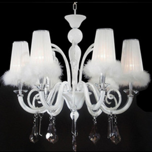 With White feather shade pendant lamp DD-MD5024