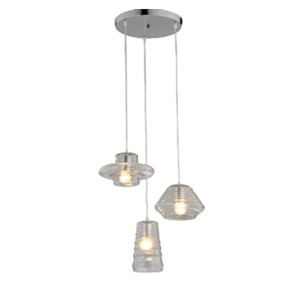 Glass pendant lamp DP803-1310319