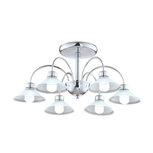 Ceiling lamp with glass shade DP818-LD13536B