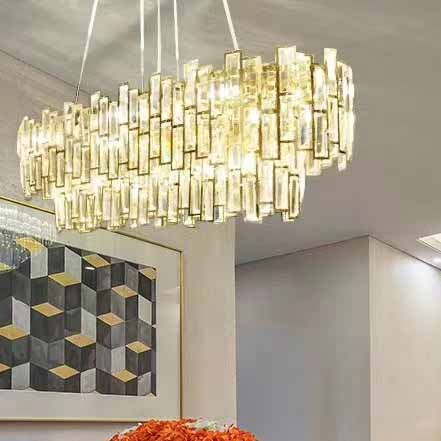 Simple crystal  high - grade hotel project pendant lamp