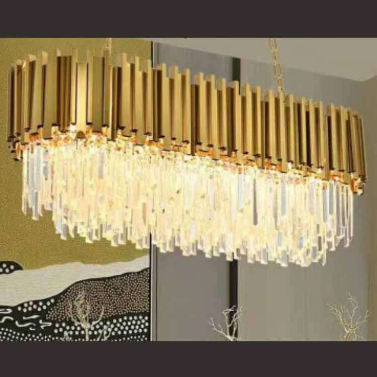postmodern oval pendant light for hotel hall decoration