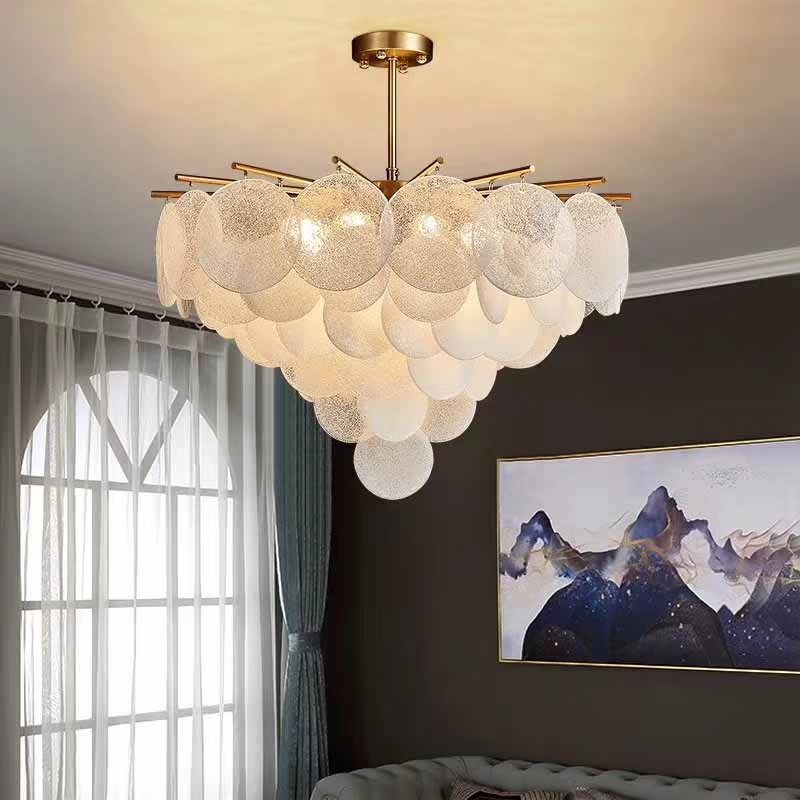 rural study bedroom frosted glass with iron art pendant lamp  dining room light