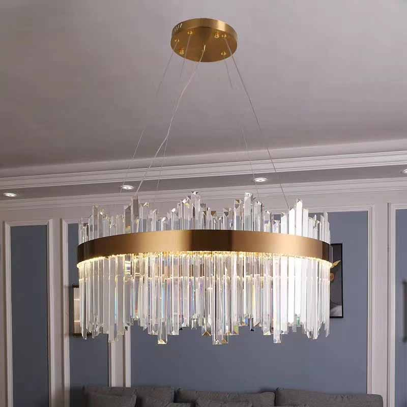 Crystal  lamp dining room crystal decoration pendant light bar lighting-Crystal  lamp dining room crystal decoration pendant light bar lighting