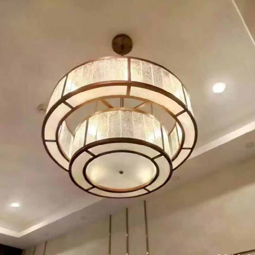 Postmodern simple creative chandelier light iron art living room hotel lighting engineering designer lamp decoration