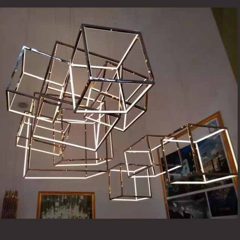 Star crystal pendant light living room  simple modern restaurant lamp study bedroom warm lighting