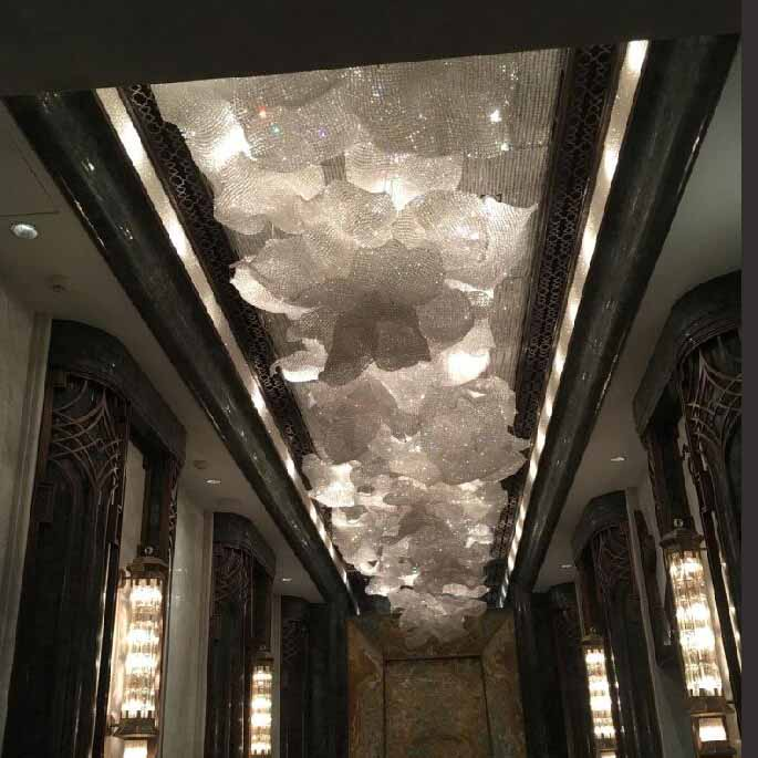 Bedroom crystal chandelier lamp post-modern clothing store bar balcony lighting