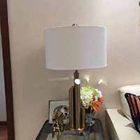 Golden color Metal table lamp hall coffee shop  engineering hotel club desk light